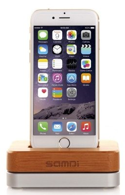 Док-станция для Apple iPhone Samdi (Wood/Silver)